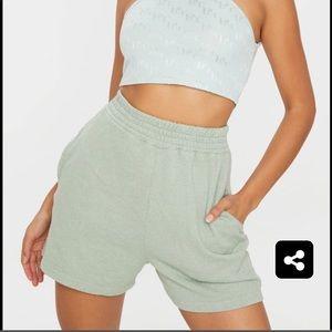 PRETTYLITTLETHING Mint Sweat Pocket Shorts
